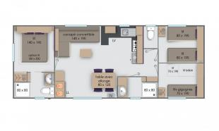 plan mobil home lodge 3 chambres