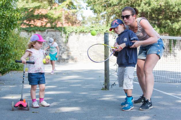 tennis camping bien assise