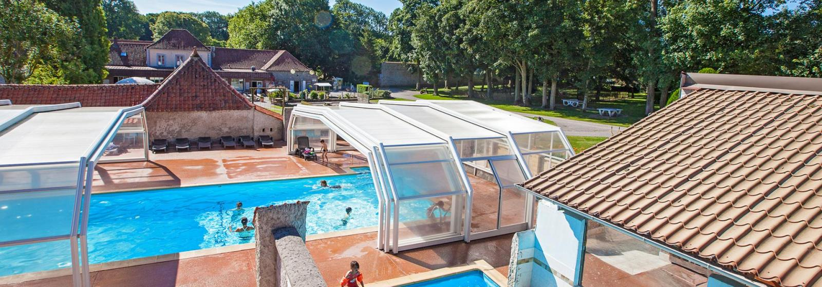Covered pool at a Calais campground