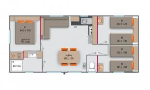 plan mobil home vip 3 chambres