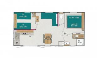 plan mobil home vip 2 chambres